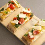 Spaccio. Stirata. Mozzarella di bufala campana, pomodorini freschi, basilico fresco e olio extra vergine di oliva