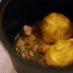 Gnocchetto di non patata Gnocco di zucca 100% cotto a spremuta per 5 ore al ragù di carni bianche