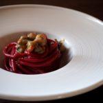Spaghettone alla bietola e padellata di canestrello