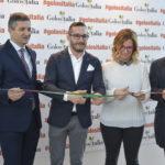 Germano Giancarli (Presidente Centro Fiera) Mauro Grandi (direttore Golositalia), Chiara Soldini (assessore ambiente Montichiari), Fabio Rolfi (consigliere regionale Lombardia)