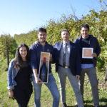 Gianni Tessari con Elena Falliero, Stefano e Mattia Manias