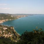 panoramica del golfo di Garda e della costa orientale del lago di Garda