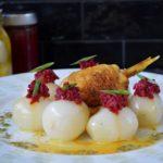 pollo arrostito con cipollotti e salsa di anna