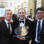 Marco Aldegheri (Presidente AIS Veneto), Carlo Pagano (Miglior Sommelier del Soave 2018), Paolo Bortolazzi (Delegato AIS Verona)