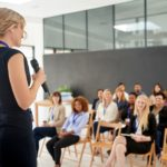 Her presentation leaves an impact on her colleagues