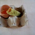 Finto uovo con pastinaca