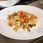 Marubini asciutti con ragù di verdure e provolone DOP - Caffè La Crepa