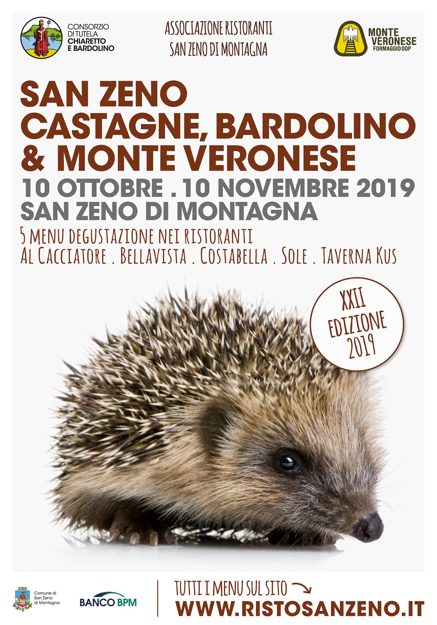 Locandina San Zeno Castagne, Bardolino e Monte Veronese