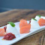 Salmone affumicato, ricotta e salsa di Anna