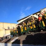 la piazza di Breganze il giorno della Prima del Torcolato che si svolge sempre la terza domenica di gennaio -Photo Stella