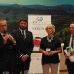 Marco Aldegheri (Presidente AIS Veneto), Cristiano Cini (Responsabile Nazionale Concorsi), Patrizia Niero (Corte Moschina), Aldo Lorenzoni (Direttore Consorzio Soave)