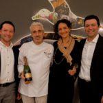 Paolo Zenato, Leandro Luppi e Fabio Zenato con la moglie Maria Luisa