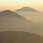 Profilo dei colli euganei visti dal Monte Venda Immagine di fondo delle etichette di villa alessi